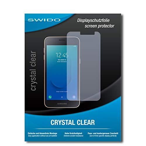 SWIDO Schutzfolie für Samsung Galaxy J2 Core [2 Stück] Kristall-Klar, Hoher Härtegrad, Schutz vor Öl, Staub & Kratzer/Glasfolie, Bildschirmschutz, Bildschirmschutzfolie, Panzerglas-Folie