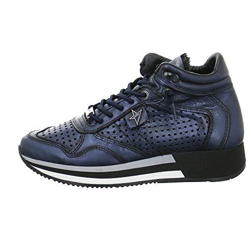 Cetti Damen Sneaker Sneakers High C1048 C-1048-SRA-antic-petroleo blau 533628