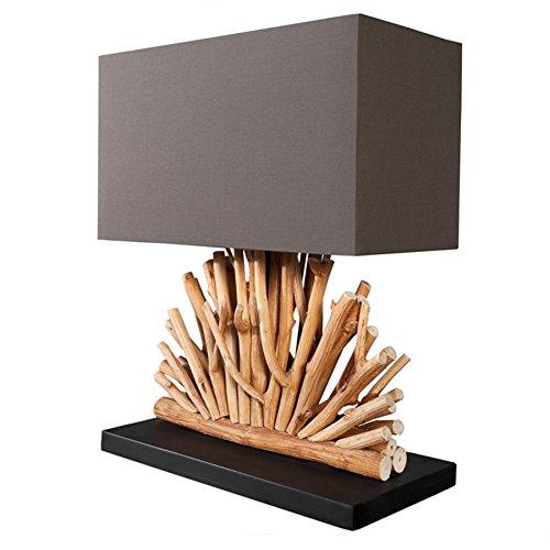 Große Design Treibholz Lampe VENTAGLIO braun