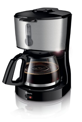 Philips HD7458/00 Daily Kaffeemaschine, schwarz/Metall