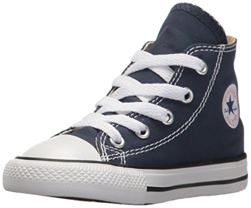 Converse Chuck Taylor All Star Hi, Unisex Baby Sneaker, Blau (Navy Blue), 19 EU (6-9 month Baby UK) (Converse Baby Sneakers)