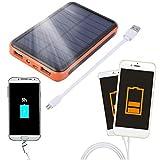 FairytaleMM Tragbare Größe 50000 MAH Große Kapazität Wasserdichte Handys Externe Solar Power Bank Ladegerät Lade Versorgung, schwarz und orange