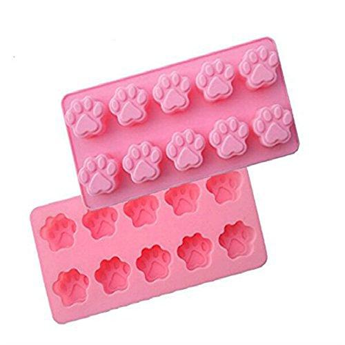 Moules à gâteaux en silicone Modèle empreintes de chat Dimensions : 21,7 x 11 x 1,9 cm Accessoire de cuisine pour la cuisson
