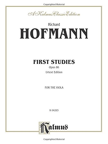 First Studies, Op. 86 (Kalmus Edition)