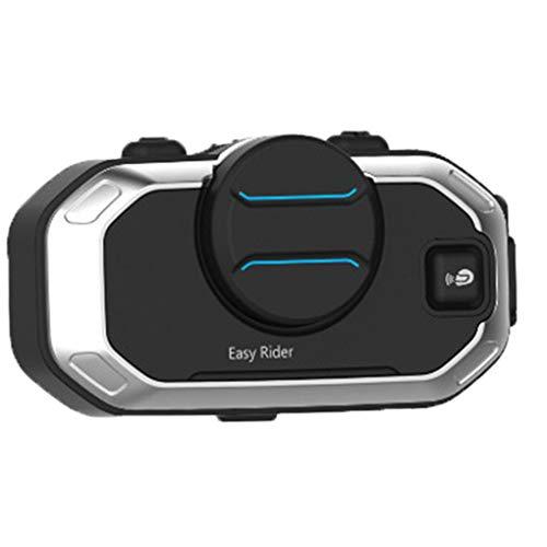 Minzhi Motorrad-Sturzhelm Intercom Bluetooth Headset BT Motorrad Sprechanlage anschließen Gleichzeitig 2 Bluetooth High-Fidelity