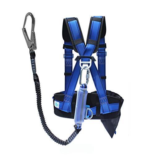 Q&Z Imbracatura Di Sicurezza All'Aperto Lavoro Alpinismo Sospensione In Aria Protezione Sicurezza Personale Cintura Moschettoni Di Sicurezza Regolabile Anticaduta E Moderazione Imbracatura