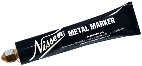 Nissen MMYEM Metal Ball Point Marker, 1/8 Tip, Yellow (Pack of 12) by Nissen