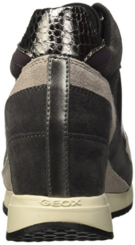 Geox D Nydame A, Sneakers Hautes Femme Grau (Anthracite/GUNC9A1G)