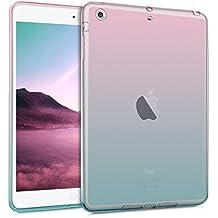 kwmobile Funda para Apple iPad Mini 2 Retina / Mini 3 - Case protector para tablet de silicona TPU - Cover trasero en rosa fucsia azul transparente