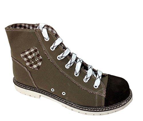 Trachten Herren Sneaker - JACK - braun/ruß/d-braun, Größe 46