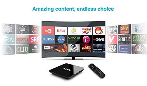 Tonbux® MXQ Pro Android 6,0 Kodi TV Box mit Amlogic S905X Quad core Full Loaded KODI 16,1 (XMBC) mit Add-Ons 4K*2K Streaming Media Player + i8 Bluetooth mini Tastatur - 4