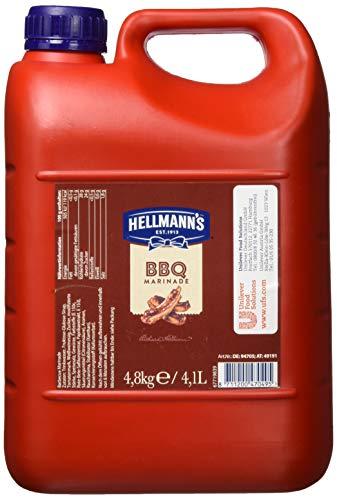 Hellmann's BBQ Marinade (mit typisch süßlichem, rauchigem Geschmack) 1er Pack (1 x 4,8kg)