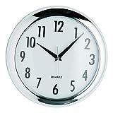 Premier Housewares - Reloj Redondo de Pared (24 cm), Color Cromado