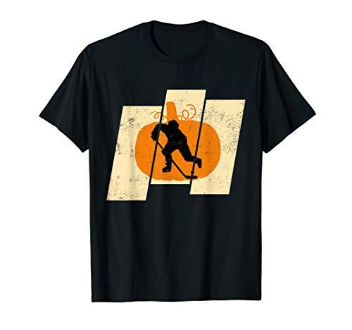 Vintage Pumpkin Hockey Sports Halloween T-shirt
