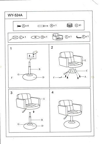 Clubsessel Sessel Kunstleder Creme Esszimmerstuhl Lounge Sessel höhenverstellbar drehbar Duhome 0493 - 5