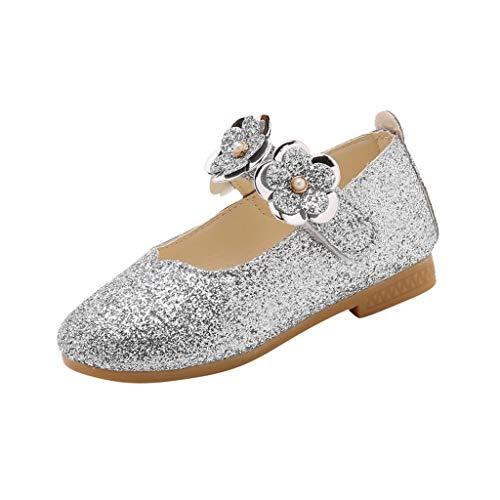 Zapatos de Princesa con Lentejuelas de Flores para Niños Zapatos de Vestir para Bebe Niñas Sandalias...