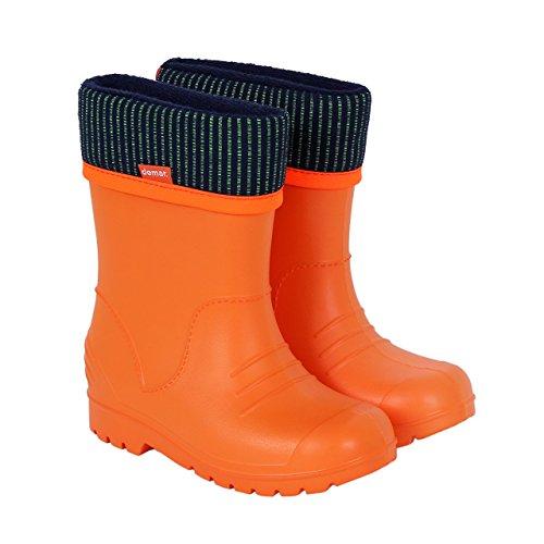 Demar Boys Girls Wellington Boots Rain Snow Wellies EVA Warm Liners