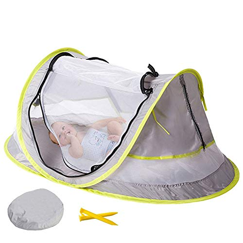 Baby-Mehrzweck-Moskitonetz-Rollbett, Anti-Moskito-Sonnensicheres, UV-freies, geruchsfreies, geräumiges Kinder-Strandzelt, geeignet für drinnen und draußen. (Zu Seite Schaukel Seite Baby Von)