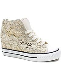 Amazon Sneaker DonnaE itPizzo Scarpe Da Borse Nero trQdsh