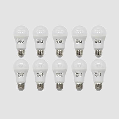 Diolumia - Lot de 10 Ampoules LED Standard E27 (Grosse Vis) - Consommation 12W - Equivalent 100W - Blanc Lumière du jour 5000K - 1055lm - Angle de Diffusion 270° - SMD2835*14 - Durée de vie 25 000h - IRC>80 - Sans Scintillement - AC85-265V [Classe énergétique