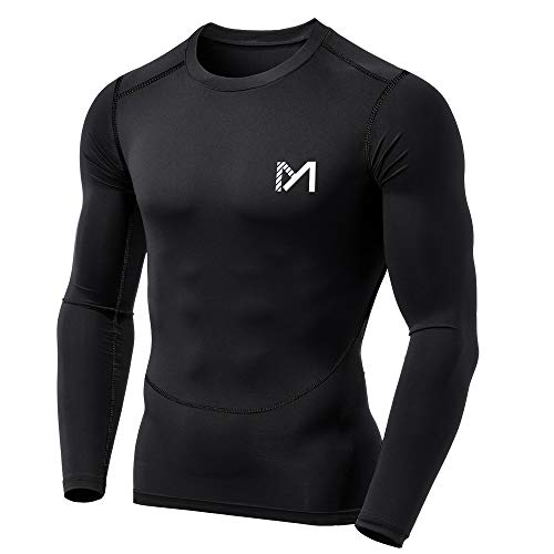 MEETYOO Tee Shirt Compression Homme Manche Longue,...