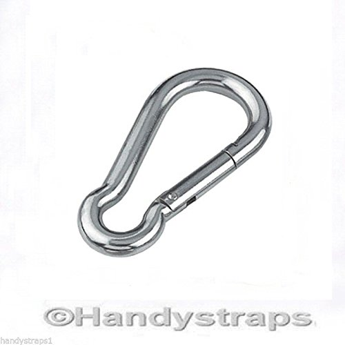 6mm x 60mm Carabiner Carabina Karabiner Snap Hook Stainless Steel Marine Test