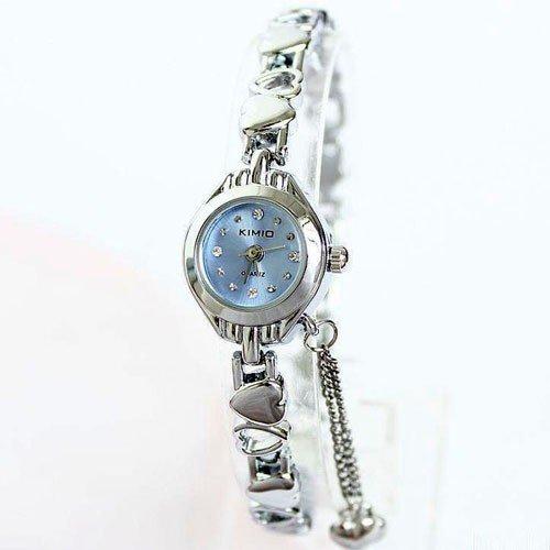 Evana Elegant Heart Bracelet Watch Sky Blue , Watches for Women