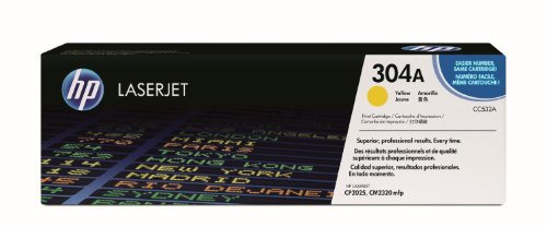 HP 304A Yellow LaserJet Toner Cartridge CC532A