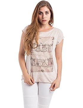 Abbino Basics Camisetas Tops Camisas para Mujer - Hecho en ITALIA - Varios Colores - Entretiempo Primavera Verano...