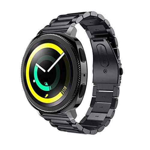 cinturino alla moda, fittingran samsung gear sport cinghie, sostituzione accessorio bracciale in acciaio inossidabile cinturino da polso watch band per samsung gear sport smartwatch (nero)