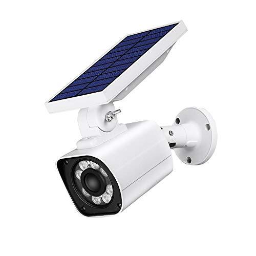 WEIHUIMEI Solar-Außenwandleuchten, Neue Solar-Simulations-Überwachungskamera Induktionslicht wasserdichte Gartenleuchte Wandleuchte -