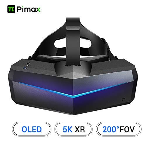 Pimax 5K XR OLED VR Brille Virtuell Realität Headset mit Breitem Sichtfeld von 200° und Zwei 2560x1440p RGB LCD Bildschirmen,1-Jahr Garantie-(Nur Headset)