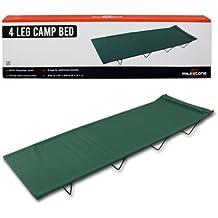 SportsCentre - Cama de campamento, 4 piernas, color verde