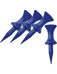 40 Plastic-Step-Tees - Abstandtees - Stufentees - 17 mm - blau (fuer Eisen 2-3-4 + Hybride + Rescue)