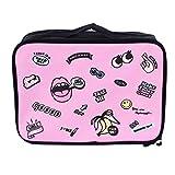 Schöne Cartoon-Muster Outdoor-Reisen Handtasche Kleidung Aufbewahrungstasche Flugzeuge Boarding Bag Große Kapazität Handheld-Tasche - Rosa