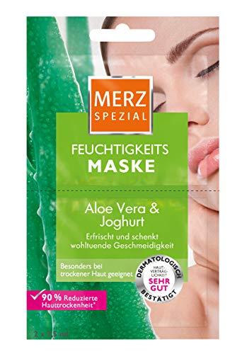 Merz Feuchtigkeits-Maske Aloe Vera & Joghurt, 15er Pack (15 x 15 ml) - Aloe-maske
