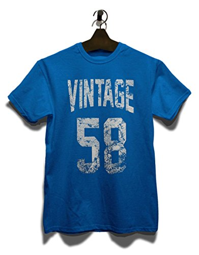 Vintage 1958 T-Shirt Royal Blau