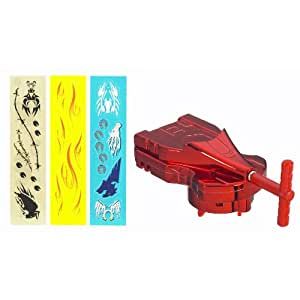 Beyblade Metal Fusion Red String Launcher - Lanceur ficelle rouge pour toupies Beyblade