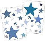 25 Sterne Wandtattoo fürs Kinderzimmer -...