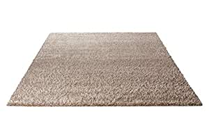 Tapis shaggy en polyester sable Cosy Glamour Esprit Home
