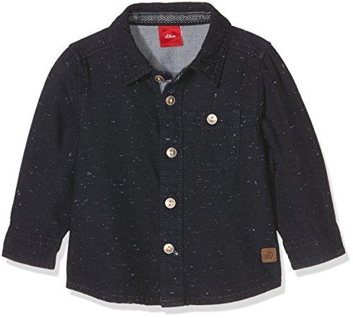 s.Oliver Baby-Jungen Hemd aus Farbnoppengarn, Mehrfarbig (Dark Blue Aop 58w2), 74