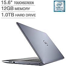 2018 Dell Inspiron 15 5000 15.6-inch Touchscreen Full HD 1080p Premium Laptop, Intel Quad Core I5-8250U Processor, 12GB RAM, 1TB Hard Drive, DVD-RW, Backlit Keyboard, Bluetooth, Blue