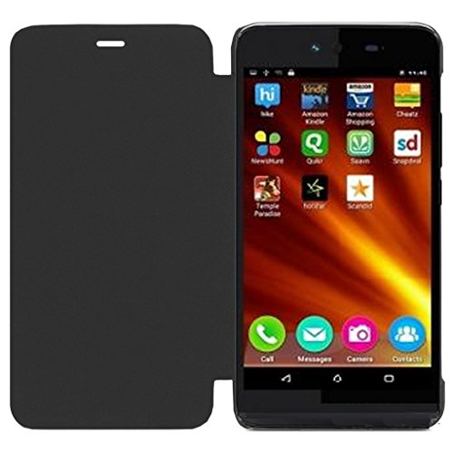 ECellStreet Flip Case Diary Folio Flap Case Cover For Micromax Canvas Fire 4 A107 - Black  available at amazon for Rs.149
