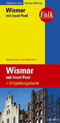 Falk Stadtplan Extra Standardfaltung Wismar mit Insel Poel