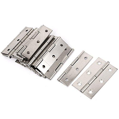 DealMux Kabinett-Fach-Tür-Stahl-Kolben Scharniere Silber Ton 66mmX36mm 20 PC -