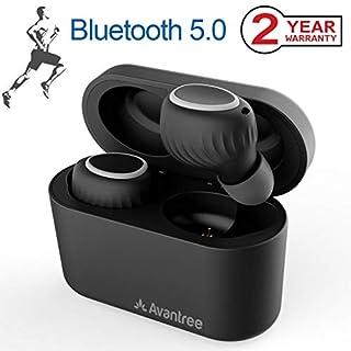Avantree Bluetooth 5.0 True Wireless Earbuds with Portable Charging Case, Sweatproof Sport TWS Earphones, 18H Playtime in Ear Headphones for Running, Jogging, Treadmill Workout, Exercising - TWS105
