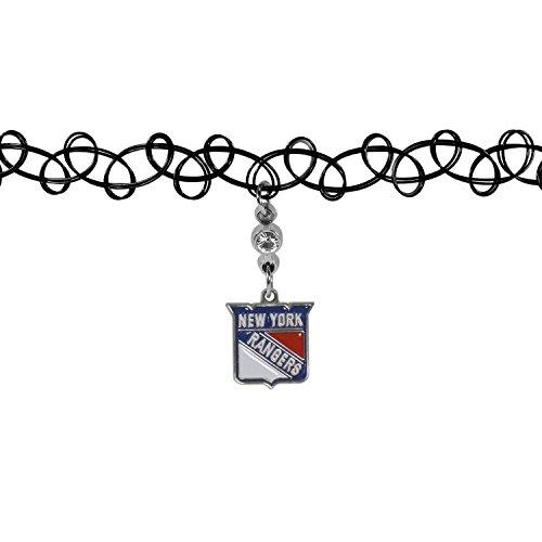 Siskiyou NHL New York Rangers geknotet Choker, schwarz, Stretch (Designer-stil-gürtelschnalle)