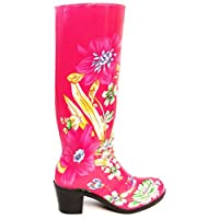 Womens Heeled Wellington Wellie Boots