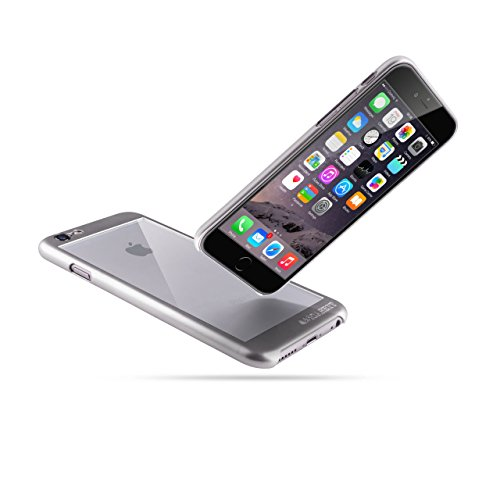 """Schutzhülle iPhone 6s (4.7"""") Hülle   iCASEIT COMBi Glass Case   Slim case with Strengthened Glass back   Only 0.8mm in Thickness   Exact-Fit with Premium Finish   Fits iPhone 6s   SPACE GRAY SILVER"""
