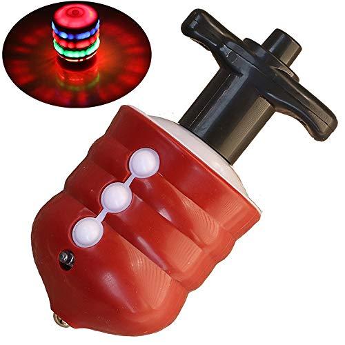 Zhongsufei Kleinkinder Lernspielzeug Luminous Holz-wie Gyro Bunte Musik Flash-Elektro-Gyro-Spielzeug für Kinder Spaß pädagogisches Spielzeug